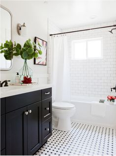 Pretty, classic bathroom