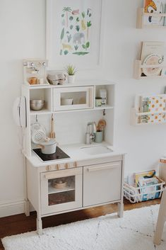 arlo's nursery : updates - almost makes perfect - toddler room ideas Playroom Design, Kids Room Design, Playroom Decor, Kids Decor, Home Decor, Playroom Ideas, Ikea Kids Kitchen, Kmart Toy Kitchen, Toddler Play Kitchen