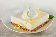 Frozen Lemonade Squares- awesome no-bake recipe for summer! I love using limeade!