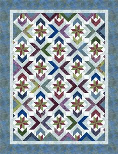 Winter Solstice pattern from Cozy Quilt Designs featuring Tonga Zen fabrics by Daniela Stout. Download the pattern pdf from Timeless Treasures here.