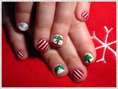 Kid Christmas Nails by Dana_NailJunkie - Nail Art Gallery nailartgallery.nailsmag.com by Nails Magazine www.nailsmag.com