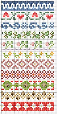 border stitching designs - link leads to TONS of other charted designs