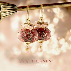 BALLERINA romantic hand made hand-appliqued polymer clay earrings by Eva Thissen Gallery, via Flickr