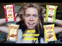 WEIRD POTATO CHIP CHALLENGE I love her videos