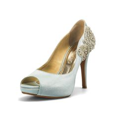 Something Blue Wedding Shoes With Lique By Christyngshoes