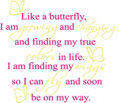 Like A Butterfly | Wall Decals - Trading Phrases
