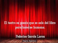 El teatro es poesía | Frases para facebook