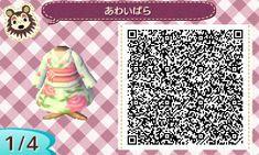 ACNL QR Code: Pale Green w/ Pink Roses Kimono