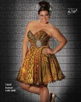 6e4760c51bc MacDuggal Fabulouss Animal Print Short Plus Size Prom Dress