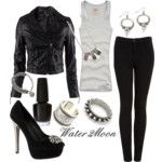 Leather Rock Star look