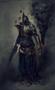 General 1258x2048 drawing armor dark sword Overlord demon