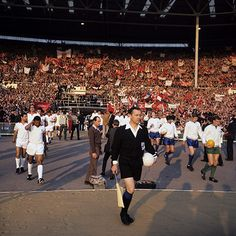 29 May 1968 - Manchester United v Benfica    The teams emerge from the tunnel