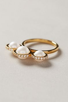 Orbited Pearl Ring #anthrofave