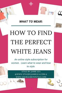 How to Find the Perfect White Jeans, Spring Jeans, What to Wear For Women, What to Wear In Spring, What to Wear Over 40, What to Wear Over 50, What to Wear Over 30, What to Wear at Any Age, What to Wear To Look Cute Not Frumpy, What to Wear For Occasions, What to Wear For Casual Attire, Your Guide To Style, How to Shop For White Jeans Outfit Ideas for What to Wear, Outfit Guides, Outfit Ideas, White Jean Suggestions, Style Guides For Women, Outfit Ideas For Women