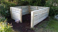 Kompostbinge/binge for hageavfall Outdoor Furniture, Outdoor Decor, Outdoor Storage, Wood, Garden, Composting, Wordpress, Design, Home Decor