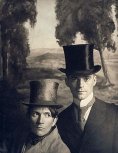 Portrait of the Artists (with Top Hats), 1865 - platinum print 1991  McDermott & McGough