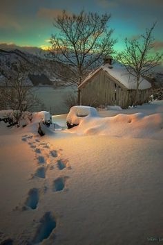 Winter Barn in Norway