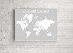 World push pin map print only travel map map poster travel world push pin map print only travel map map poster travel board wedding anniversary gift world 001 pinterest travel maps office spaces and gumiabroncs Choice Image