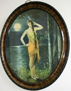Antique Edwardian Original Print American Native Indian Girl by Lake 19x23in F2