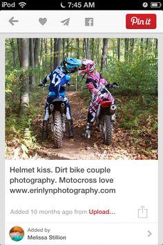 Love it- Helmet kiss