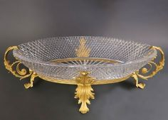 Lot: Very Large Bronze and Baccarat Crystal Centerpiece 23in, Lot Number: 0442, Starting Bid: $800, Auctioneer: Royal Antiques, Auction: European Furniture and Decorative Art, Date: January 29th, 2017 EET