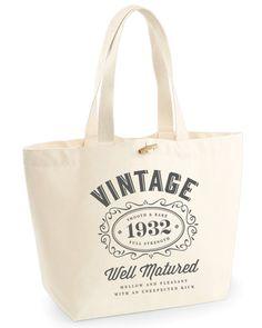 85th Birthday, 85th Birthday Idea, 85th Birthday Bag, Tote, Shopping Bag, Great 85th Birthday Present, 85th Birthday Gift 1932 Birthday, Vintage Bourbon