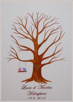 Velký svatební strom č.6  50x70