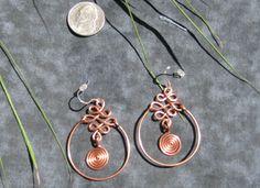handmade earrings ideas   Using the zig-zag design from the Celtic Knot earrings , I added a ...