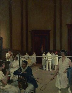 The Badminton Court, 1926 by Frederick William Elwell (English 1870-1958)