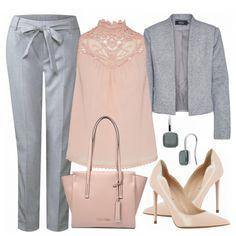 Toller Businesslook aus einer grauen Hose, grauem Blazer und nudefarbenen, spitzen Pumps... #fashion #fashionista #mode #damenmode #frauenmode #outfit #outfitinspiration #damenoutfit #frauenoutfit #trend #sommertrend #trend2018 #modetrend