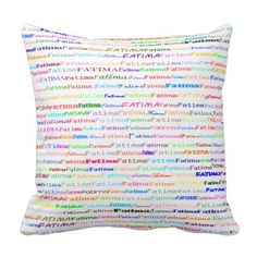 Fatima Text Design II Throw Pillow - girl gifts special unique diy gift idea