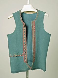 Vest Date: 19th century Culture: French (Breton) Medium: wool