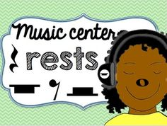 Music Center Rests - Whole, Half, Quarter, and Eighth Rest Teaching Music, Percussion, Task Cards, Rest, Printables, Instruments, Music Lessons, Print Templates, Music Education