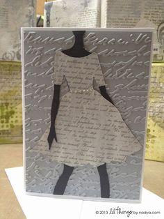 Ozone Mama - dress lady, handmade card (MADE TO ORDER)