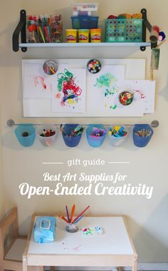 Gift guide: best art supplies for open-ended creativity - all great to have on hand for a rainy day! Lots of detailed descriptions and age recommendations here.