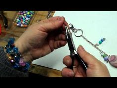 Making Designer Charmstrings for Your Purse; Simple Beaten Wire Clasps - YouTube