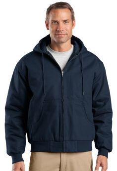 Cornerstone Mens Warmth FullZip Hooded Work Jacket_Navy_XXXLarge -- For more information, visit image link.