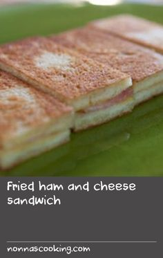 Gruyère works well in this recipe as it has a lovely melting quality, but you can use another cheese if preferred. Gruyere Cheese, Ham And Cheese, Fried Ham, Cheese Sandwich Recipes, Us Foods, Creamed Eggs, White Bread, Fries