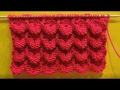 Узор чешуйки. Вязание спицами. (Knitting pattern scales). - YouTube