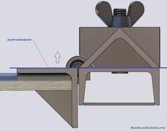45 degree bending brake set up