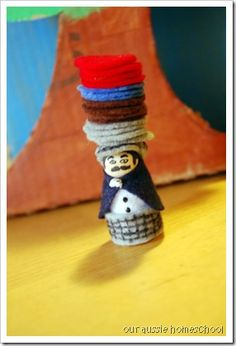Caps for Sale~Diorama (Make a game out of balancing hats. I like her theme verse for the book too) Kindergarten Reading Activities, Preschool Books, Book Activities, Preschool Ideas, Preschool Social Studies, Caps Game, Children's Book Week, Girls Dollhouse, Five In A Row