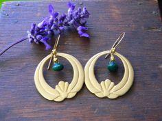Lotus Earrings Lotus Design Lotus Earring Lily by GoldenOwlStudio, $38.00