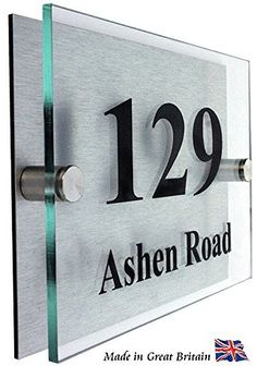 Shop front signage ideas modern exterior interior wayfinding designs and colors photo in building signs outdoor House Number Plaque, House Numbers, Front Door Numbers, Front Doors, Name Plate Design, Building Signs, Address Plaque, Address Signs, Address Numbers
