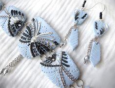 Élégant bracelet bleu et noir <3