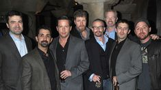 Some Band of Brothers cast members reuniting at The Pacific premiere. (Nix, Peconte, Liebgott, Bull, Guarnere, Buck, Luz, and Malarkey.)
