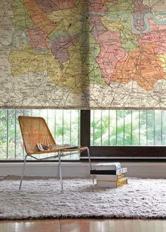 cool way to recycle an old map...would love to do this in a library