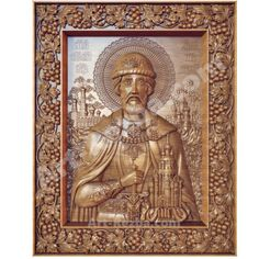20-Dmitry-Donskoy-3D-Art-wall-Orthodox-Wood-Carved-Icon-Religious-god Empire Romain, 3d Wall Art, Orient, Moscow, Vintage World Maps, Carving, Bronze, God, Pendant