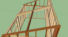 Réalisation garage ossature bois - avis et conseil pour finalisation demi-ferme, section panne, etc. (42 messages) - ForumConstruire.com