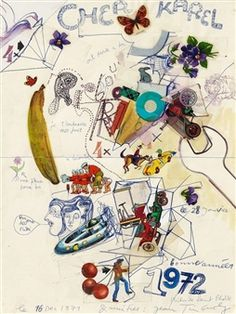 Untitled (Brief an Karel) By Niki de Saint Phalle, Jean Tinguely ,1971
