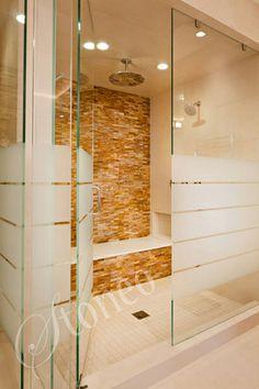 Prysznic z terakotą z marmuru